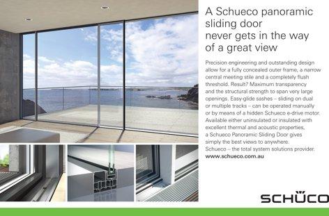 Panoramic sliding door from Schueco