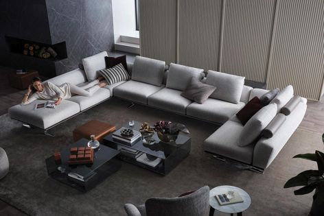 The generous and sophisticated Bellaire sofa is the latest expression of King Living's design language.