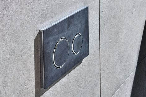Sigma21 by Geberit is available in a stylish natural slate finish.