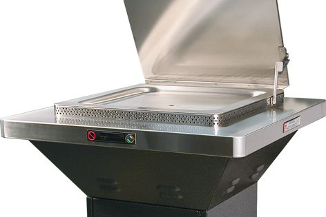 The DA Christie Parksafe barbecue is designed for safe public use.