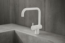 Matt white tapware finish from Vola
