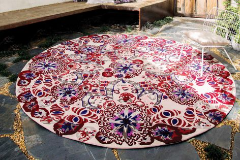 Mahoora Moth, one of six designs in the Easton Pearson collection from Designer Rugs.