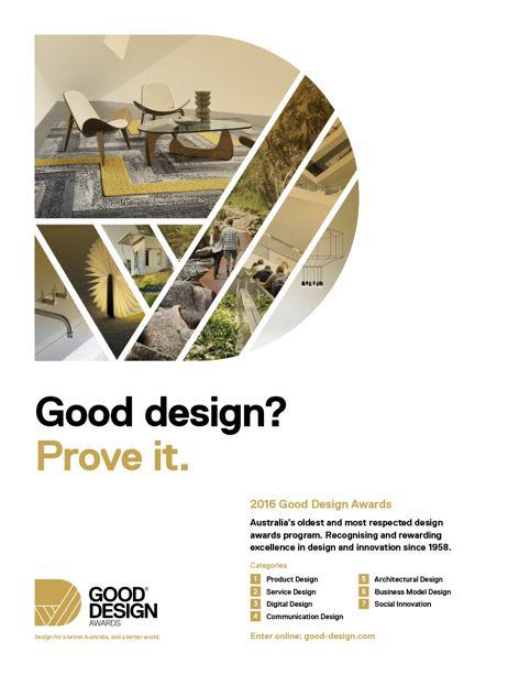 2016 Good Design Awards entries open