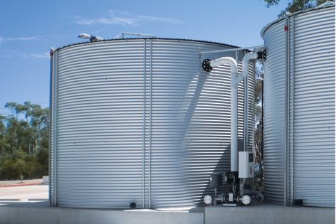 Built to be tough, Kingspan Water's steel tanks are available in the full range of Colorbond colours.