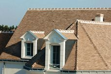 French terracotta shingle tiles from Cauzac