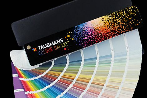 The new Taubmans Colour Galaxy Fandeck displays generous colour swatches.