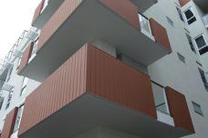 Futurewood cladding used at Ergo Apartments