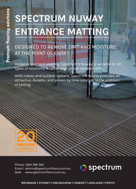 Nuway entrance matting by Spectrum