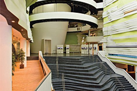 Heradesign was used in the foyer of the Kilmahaus museum.