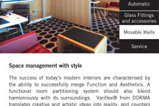 Dorma Movable Walls – space management with style