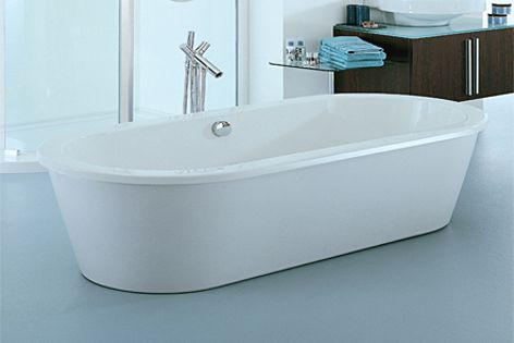 The oval-shaped Bianco model is one of two new freestanding baths from Adesso.