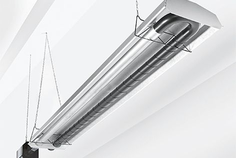 Heatray Tube Radiant Gasfired Heaters are available in natural or LP gas operation.