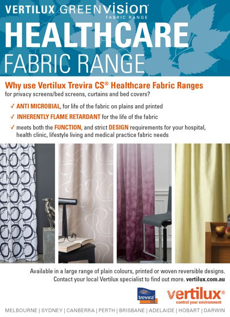 Greenvision fabric range from Vertilux