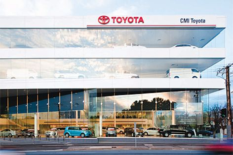 Adelaide's new CMI Toyota showroom.