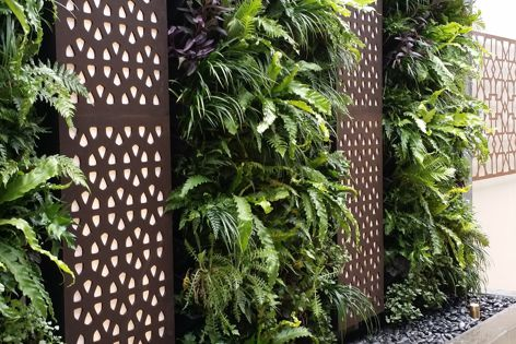 The VersiWall green wall from KHD looks great and is easy to install.