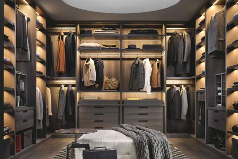 Poliform's wardrobe collection features a variety of styles and designs that are functional and stylish.