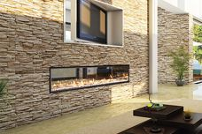 Gas fireplace by Escea
