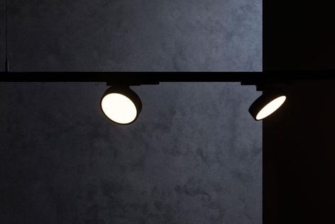 Unios's Akira Track Light can be tilted at up to 80° and smoothly rotated 350° in any direction.