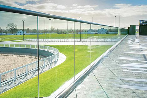 C. R. Laurence engineered a cost-effective and eco-friendly base shoe for use with its award-winning Taper-Loc Glass Railing System.