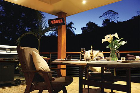 Outdoor heaters from Bromic are available in both natural and LPG models.