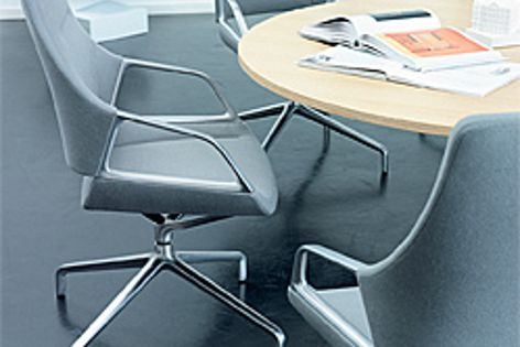 Wilkhahn's Graph conference chair features spring comfort that requires no mechanism.