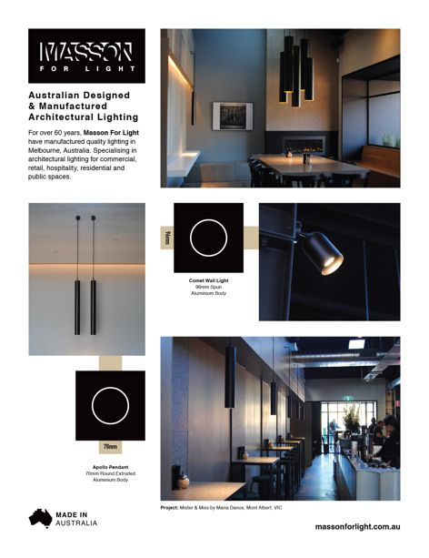 Architectural lighting by Masson For Light