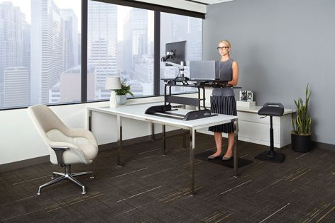 The range of sit-stand workspace products from Varidesk help to create happier and healthier work environments.