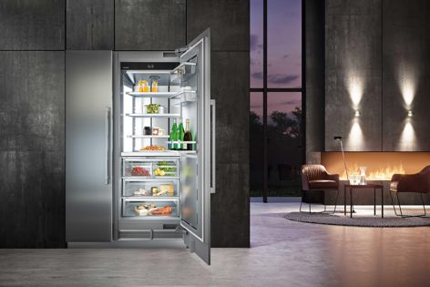 Liebherr's fridge and freezer systems can be installed invisibly behind cabinetry, or can be left exposed as a focal point.
