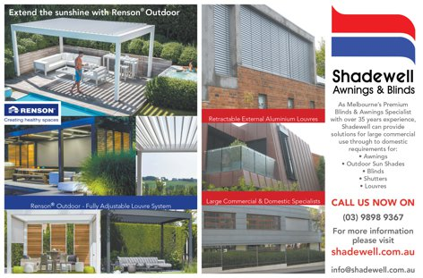 Shading from Shadewell Awnings & Blinds