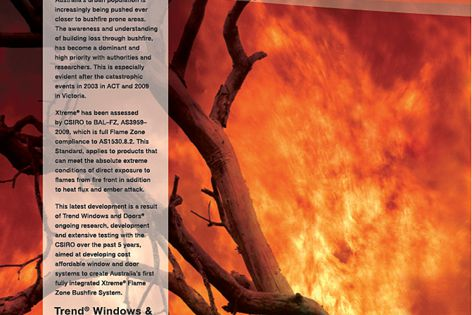 Trend's Flame Zone bushfire protection