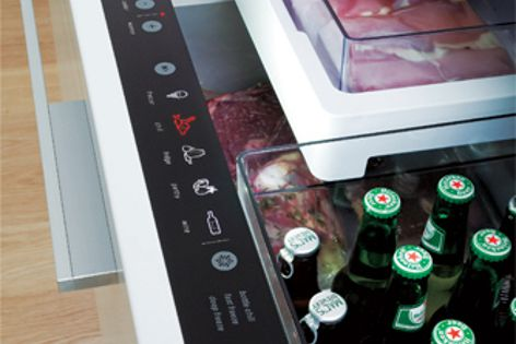 Five temperature settings enable the Izona CoolDrawer to cool, store, freeze and preserve food.