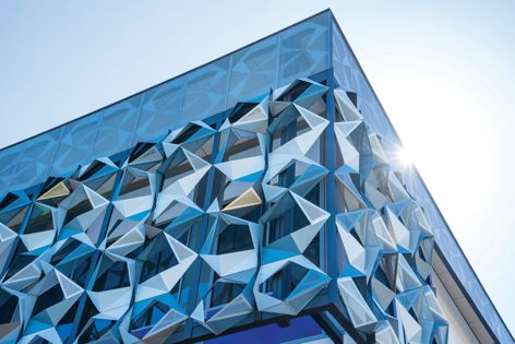 John Curtin College of the Arts. Architect: JCY Architects Artist: Philip and Dawn Gamblen. Photography: Rob Burnett.