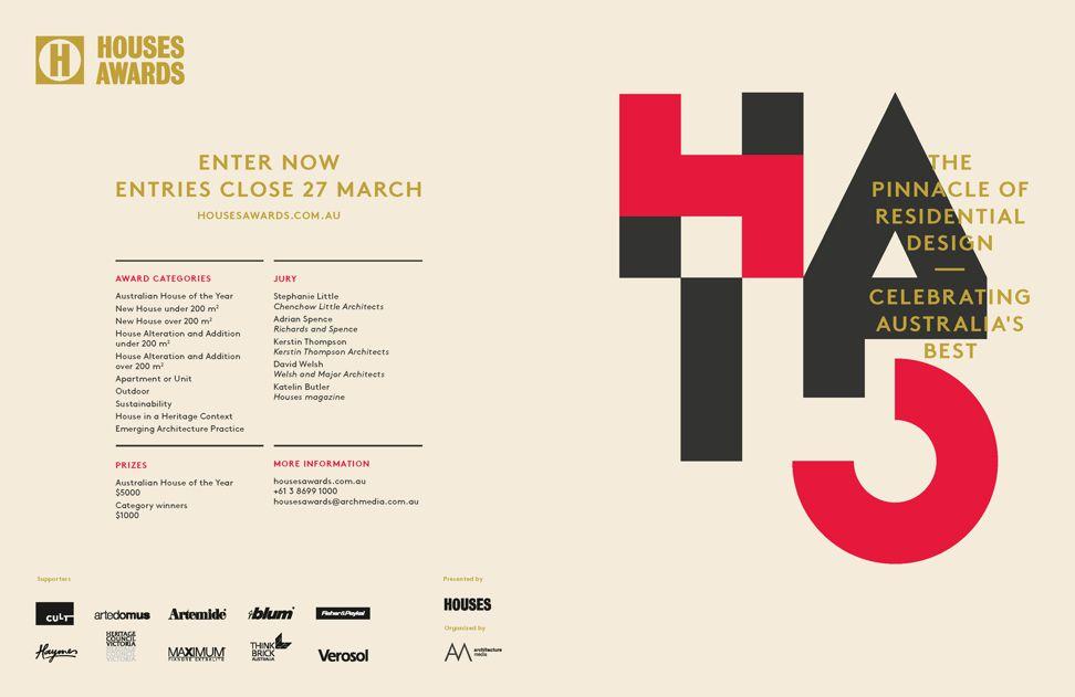 2015 Houses Awards – enter now