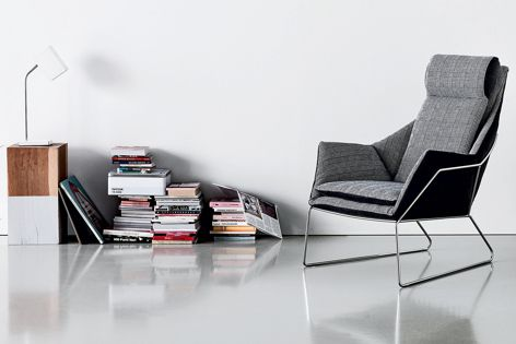 The New York armchair, available from Cafe Culture + Insitu, is the latest addition to Saba Italia's range of padded furniture.