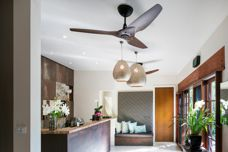 Bamboo and aluminium Haiku ceiling fans