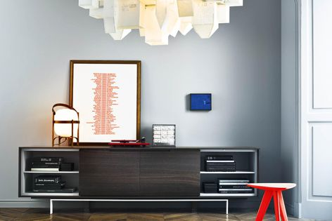 The Axia sideboard is ideal for storing and displaying items.