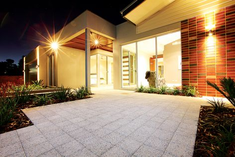 The new Granite Collection pavers from Brikmakers are ideal for use on driveways and walkways.
