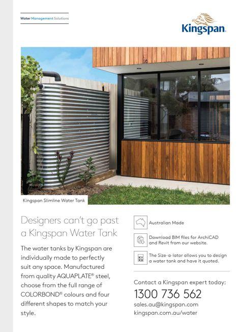 Water tanks by Kingspan