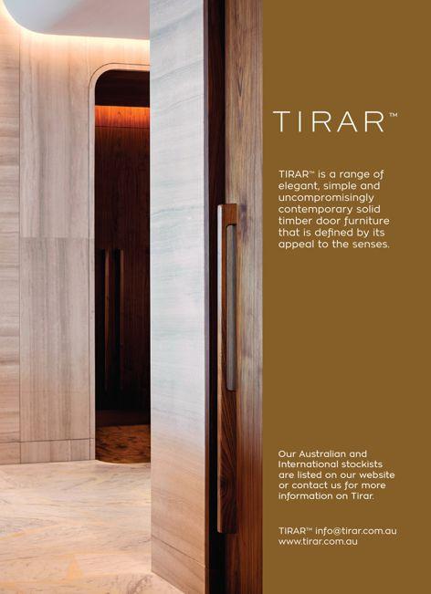 Solid timber door hardware by Tirar