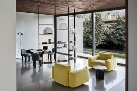 Arflex's Marenco armchair and sofa are available exclusively at Poliform.