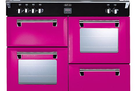 Floral Burst is one of 12 colours available in Belling's Colour Boutique collection of cookers.