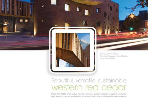 Beautiful, versatile, sustainable western red cedar