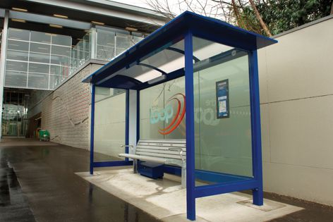 Adshel has installed a solar-powered bus shelter in Parramatta for The Loop bus service.