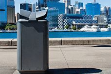 Monsoon City Bin by Street Furniture