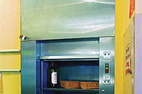 The dumbwaiter lifts are constructed from approximately 90% pre-installed components.