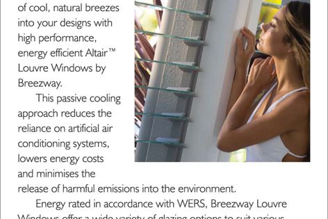 Energy-efficient Breezway louvre windows