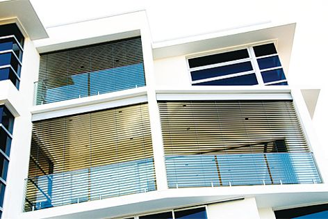 Temperature, light and privacy can be controlled by the installation of Vanguard Ecoline blinds.