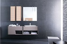 Bathroom cabinetry by Porcelanosa