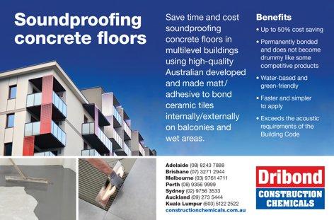 Soundproofing concrete floors