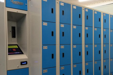 The E-locker system features online connectivity to facilitate servicing, emailing usage and revenue reports.